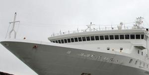 中国航运企业从国外购买的豪华邮轮抵威海设施豪华